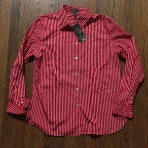Lauren Ralph Lauren NWT Womens Stripe shirt. sz XL